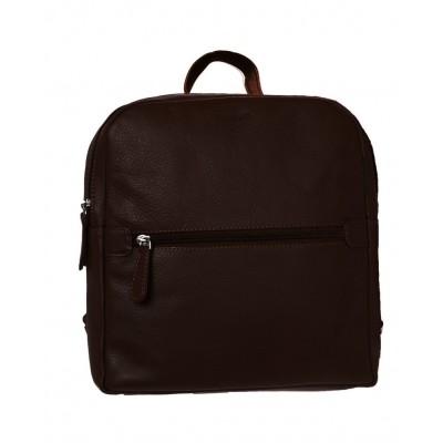 Γυναικεια δερματινη τσαντα πλατης backpack lavor 1-310 black